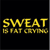 Sweat is fat crying (Ladies)