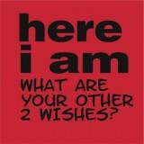 Here I am…