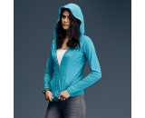 A510F Anvil women's triblend full-zip hooded jacket