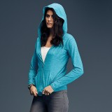 A510F Anvil women's triblend full-zip hooded jacket