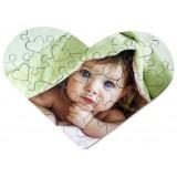 32 Piece Wooden Heart Jigsaw